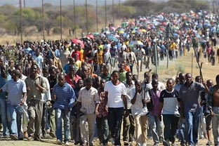 Africa mining strike