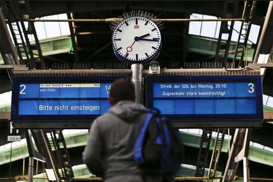 Train strike Germany