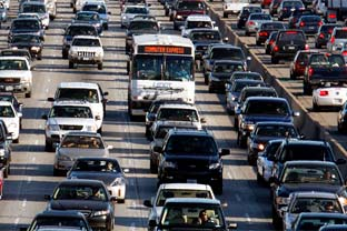 Los Angeles street rush