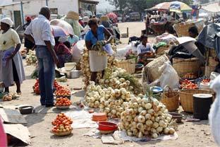 Zimbabwe street market