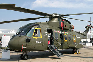 AW101 helicopters