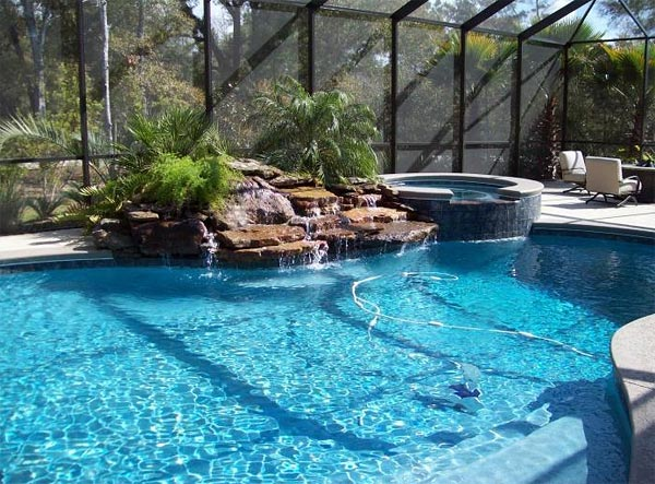 Natural Looking Backyard Pool :  natural swimming pool Without any chemicals, they are good for you