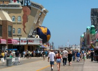 Atlantic city Boardwalk with Believe it or Not in the back